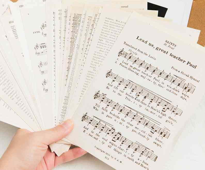 Retro Letter Scrapbooking/card Making/journaling Project Diy Kraft Paper Card