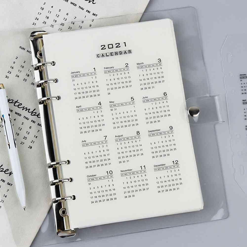Pp Divider A5 A6 Loose Leaf Notebook, Planner, Index Sheet Binder, Category Planner