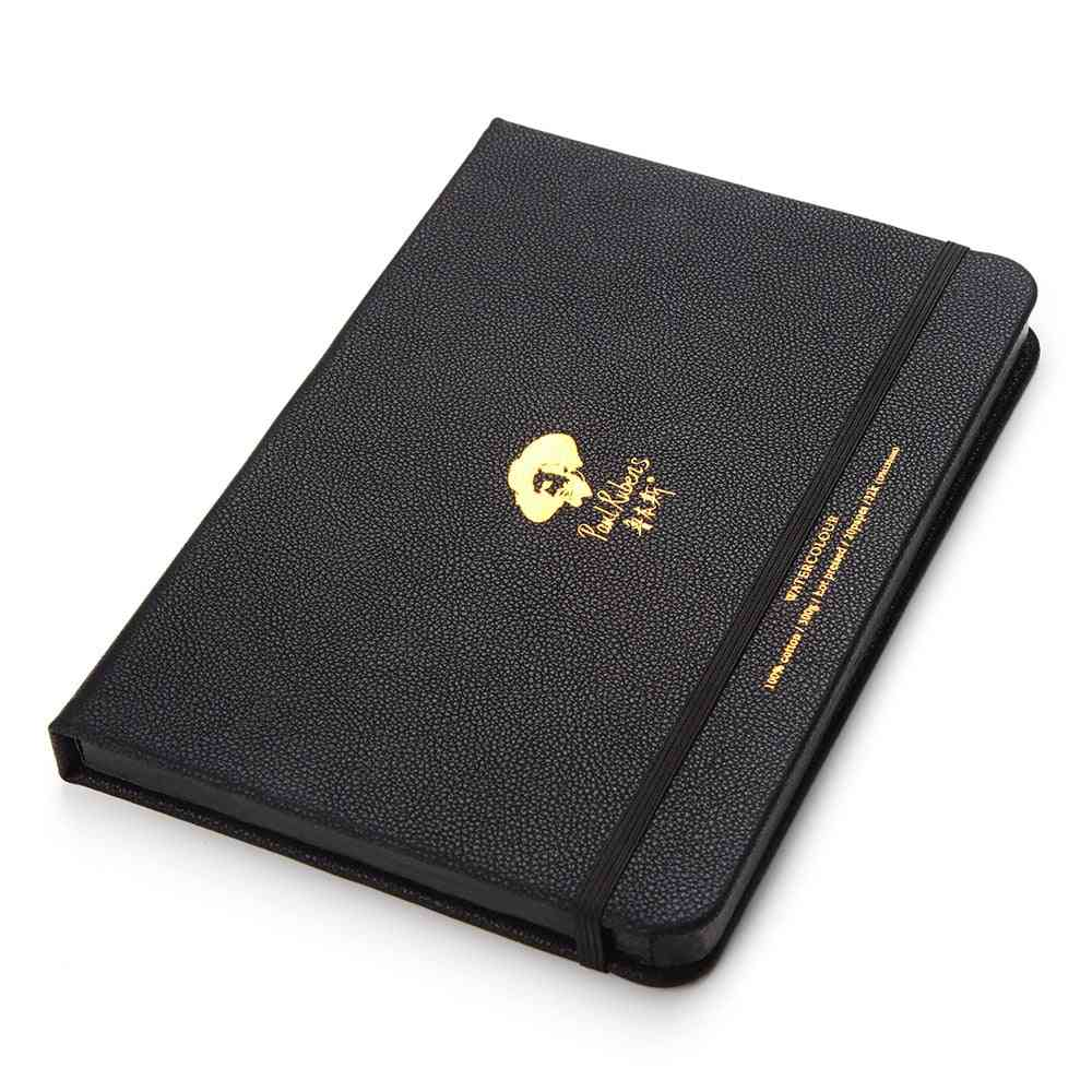 Hot Pressed, Watercolor Paper Pad With Leather Cover