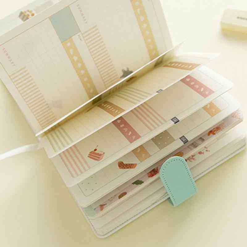 1pcs A5 Cute Cartoon Notebook - Leather Diary, Journal Planner