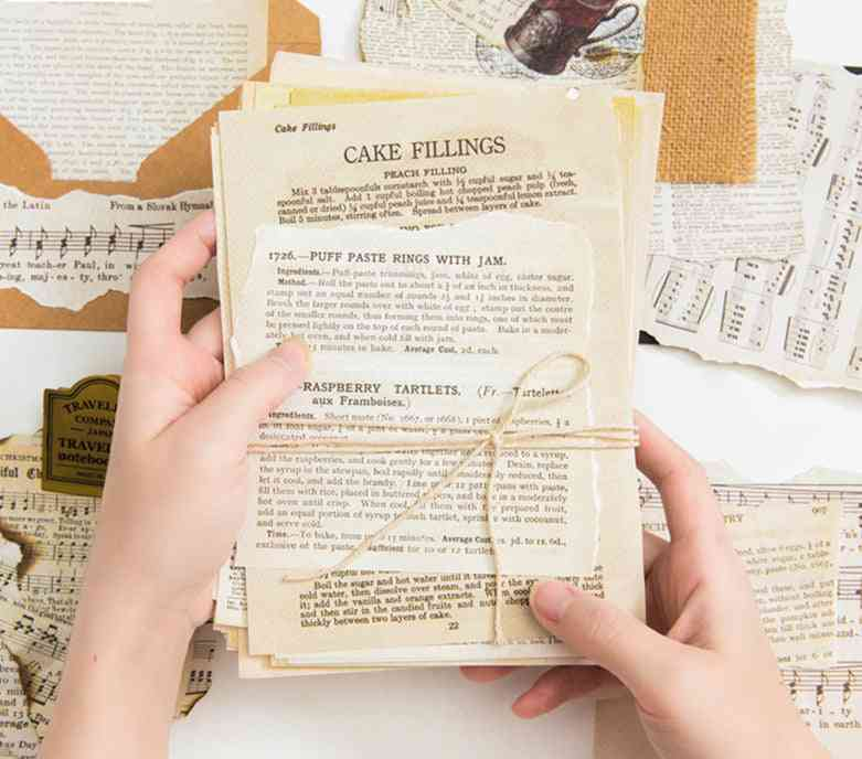 57pcs Ancient Vintage Letters / Card Making Diy Kraft - Retro Writing Papers
