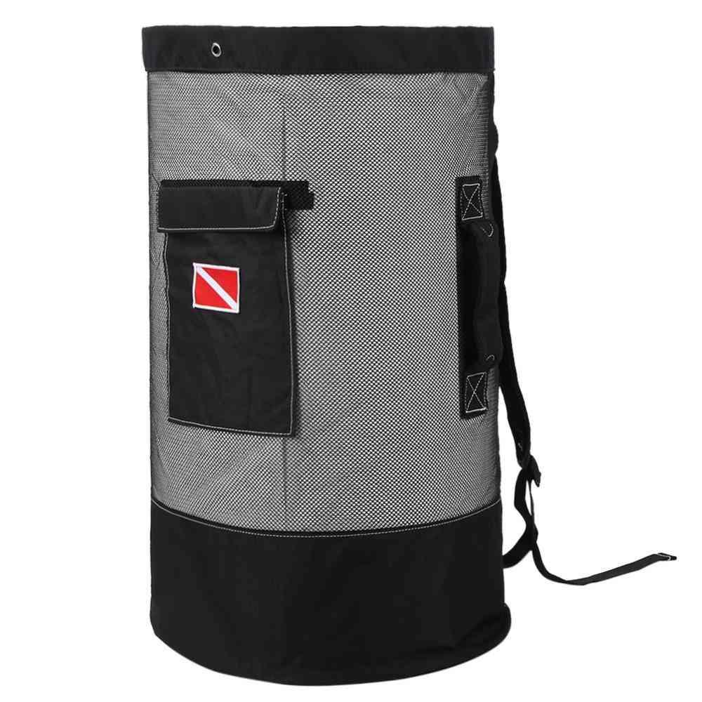 80l Large Capacity Diving Bag, Mesh Cloth Deep Sea Picking Bags