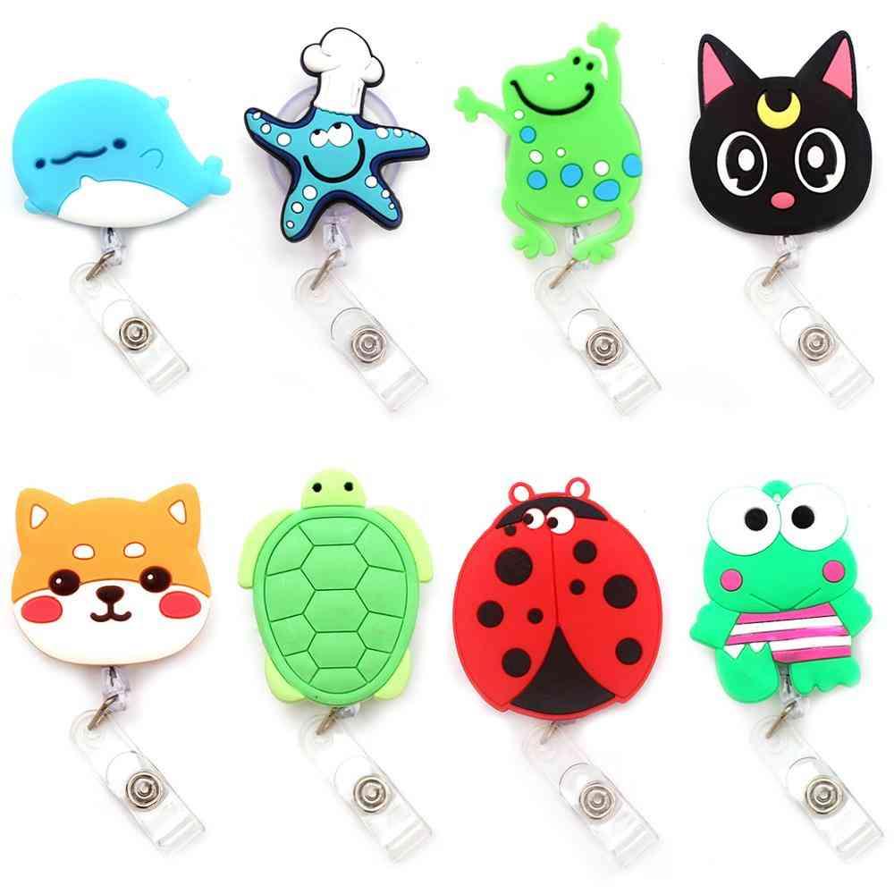 Cute Animal Design, Retractable Plastic Badge Holder