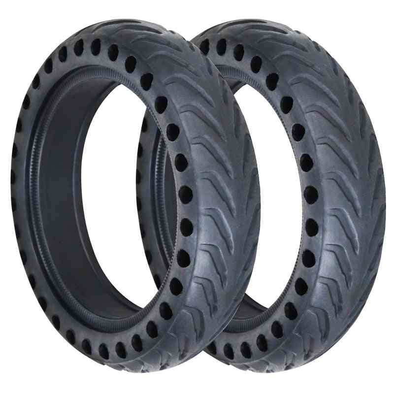 Scooter Solid Tires Shock Absorber Non-pneumatic Tyre Damping Rubber Tyres Wheel
