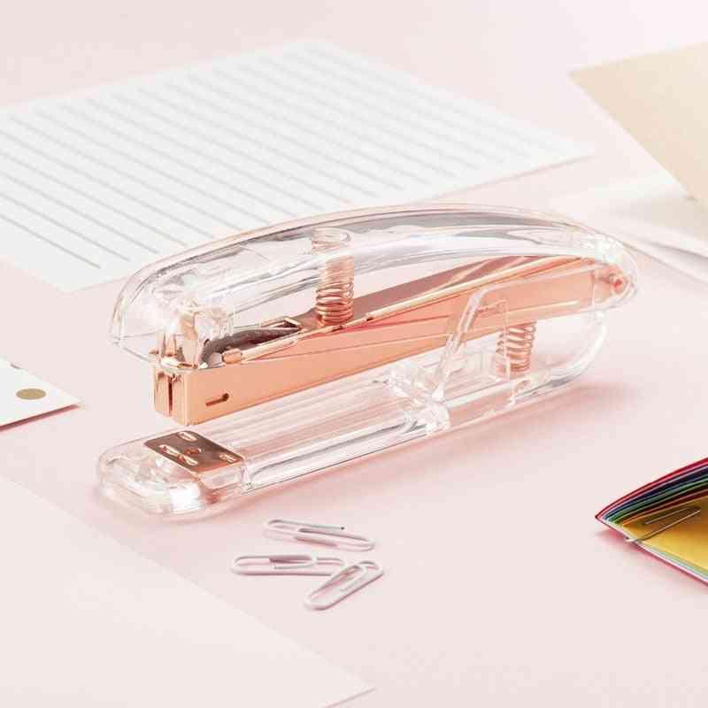 Rose Gold Edition Metal Manual Staplers