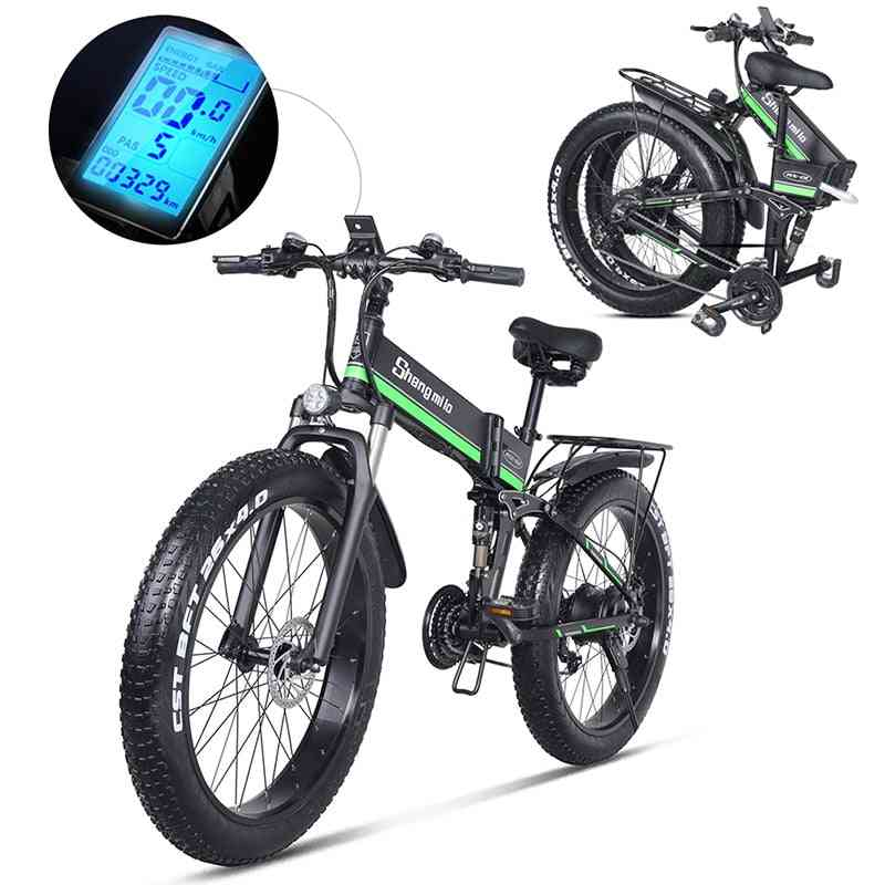 Electric Bicycle, Beach Bike With Fat Tire, Mens Mountain Snow Ebike