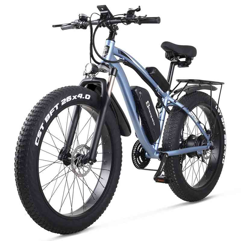 Electric Snow Bike, Mountain Bicycle, Fat Tire Ebike With Lithium Battery