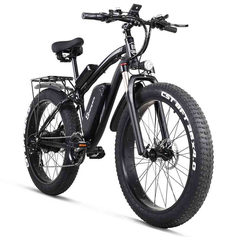 Electric Bike, Mens Mountain Snow Bicycle, Ebike, Fat Tire Ebike
