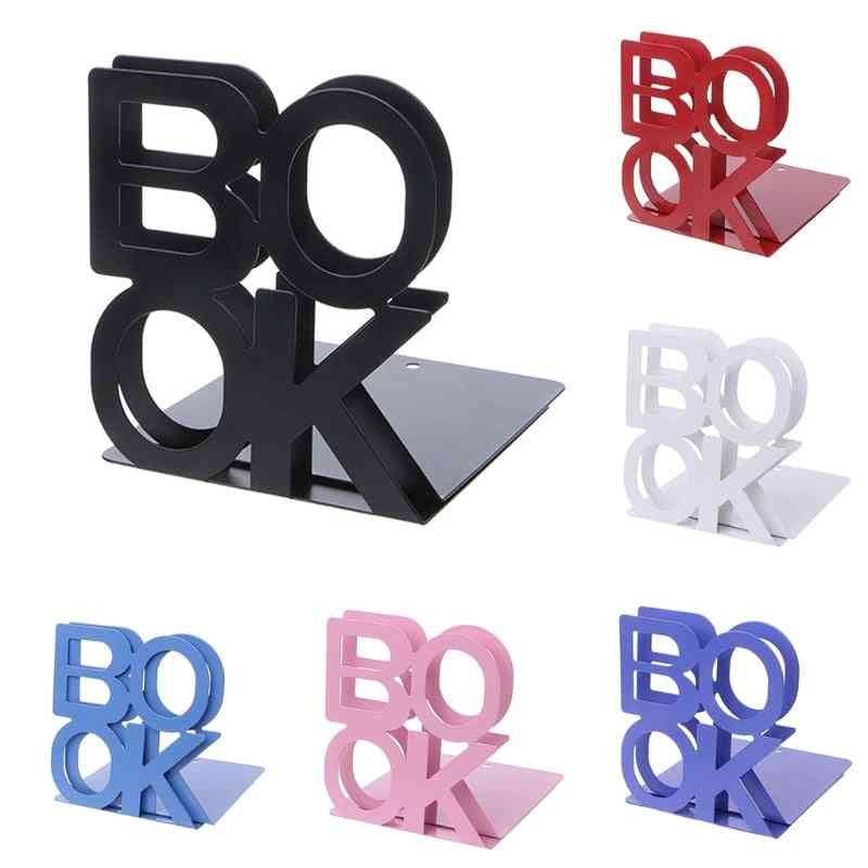 Alphabet Shaped Bookends, Iron Support Holder, Desk Stands For Books