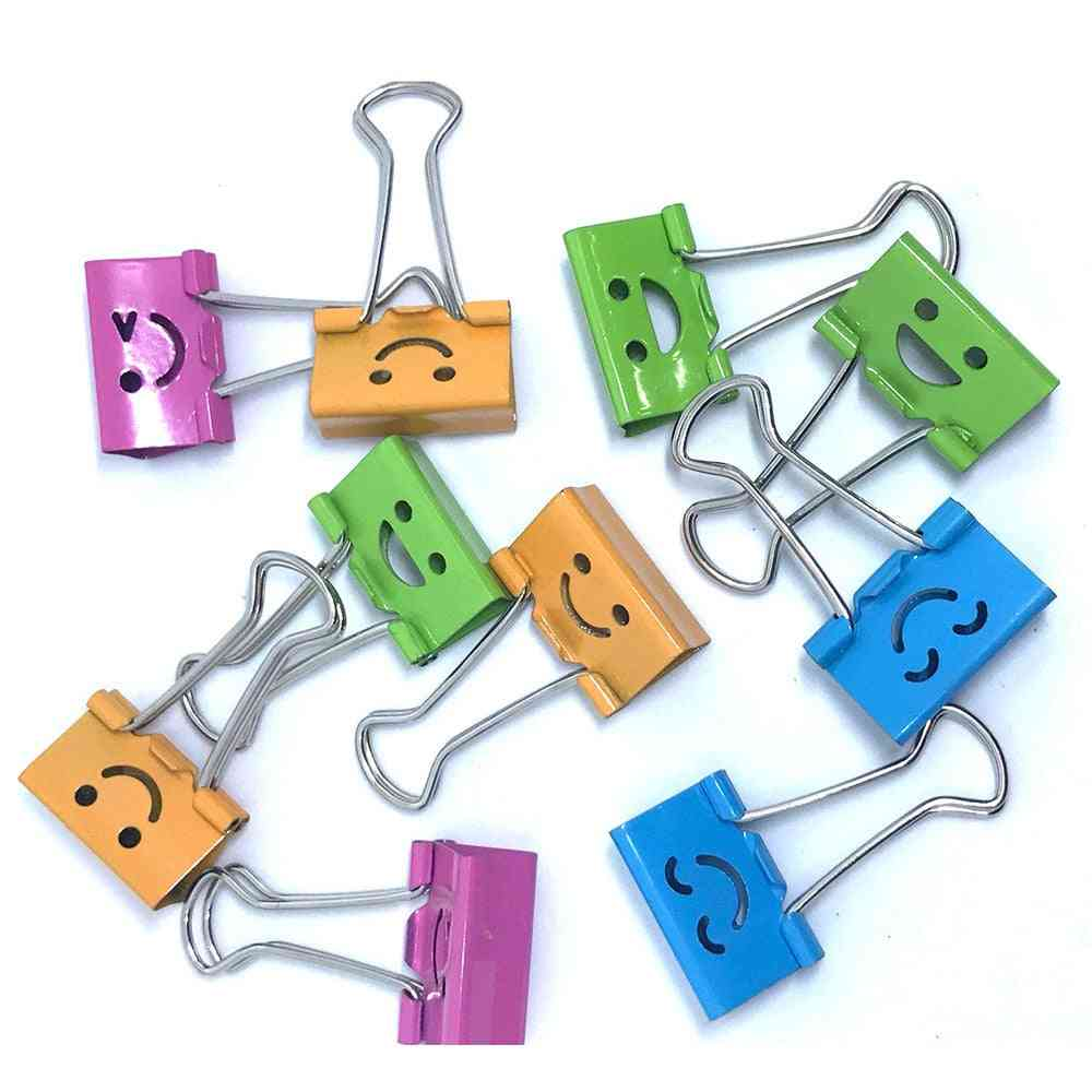 Smile Cute Binder Clips For Home, Office, Books File Paper Organizer