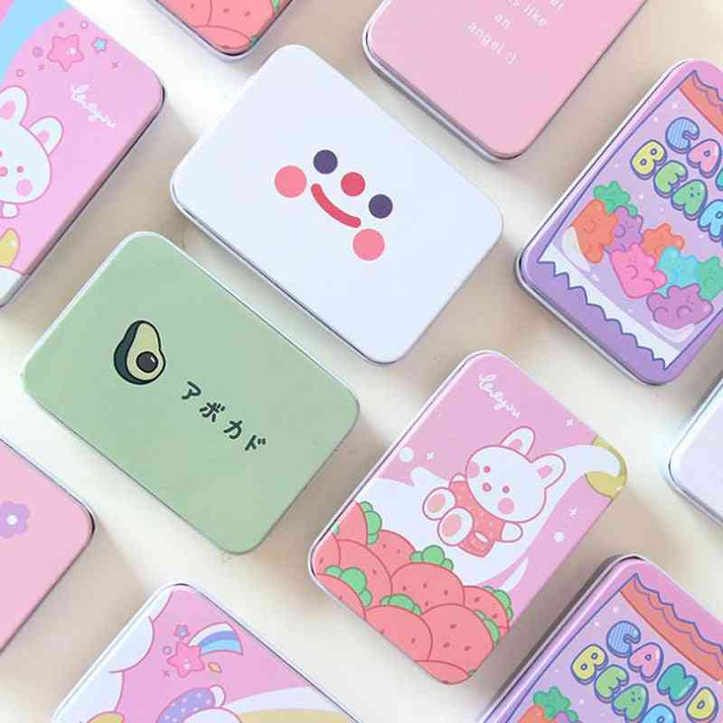 Cute Korean Stationery Rabbit, Bear, Flower Square Tape, Jewelry Storage Box, Desk Card Holders