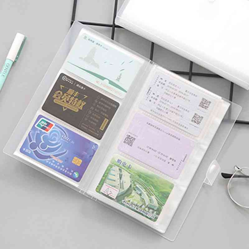 240-slots Cover Business Card Book For Large Capacity Id Holders, Ticket Collection Clip