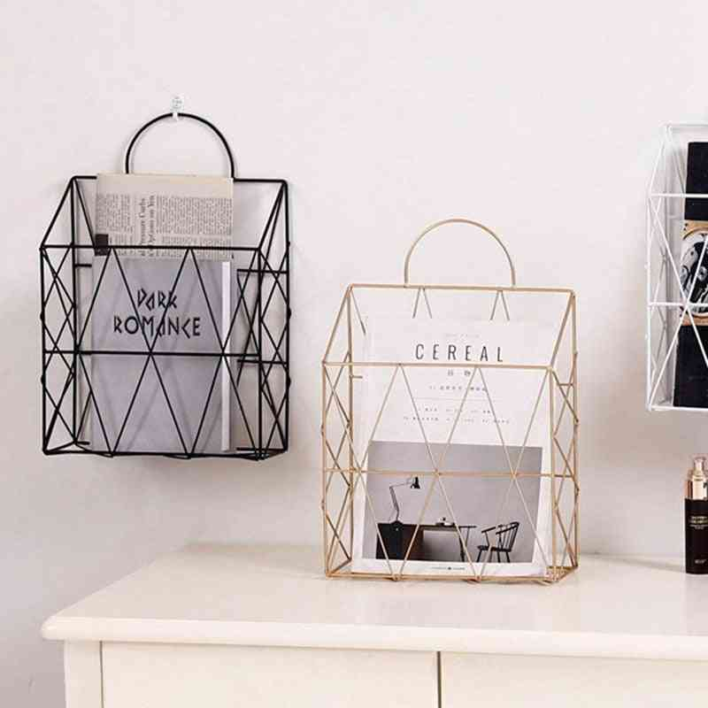 Magazine Holder Hanging, Wall Mounted Newspaper, Book Document, Basket Storage Container