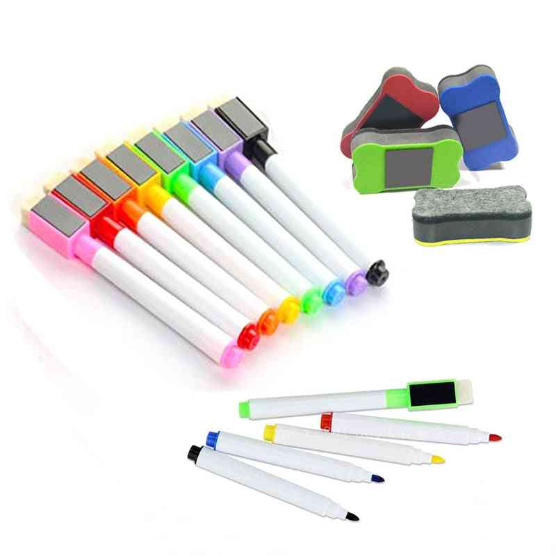 Erasable Colorful School Whiteboard Pen Dry Markers Built In Student Children's Drawing