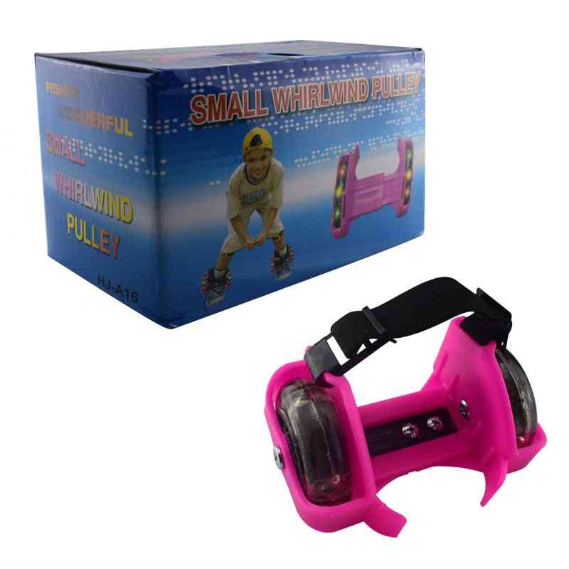Kids Pulley/ Shoes Safe Durable Skating Flashing Roller Tool