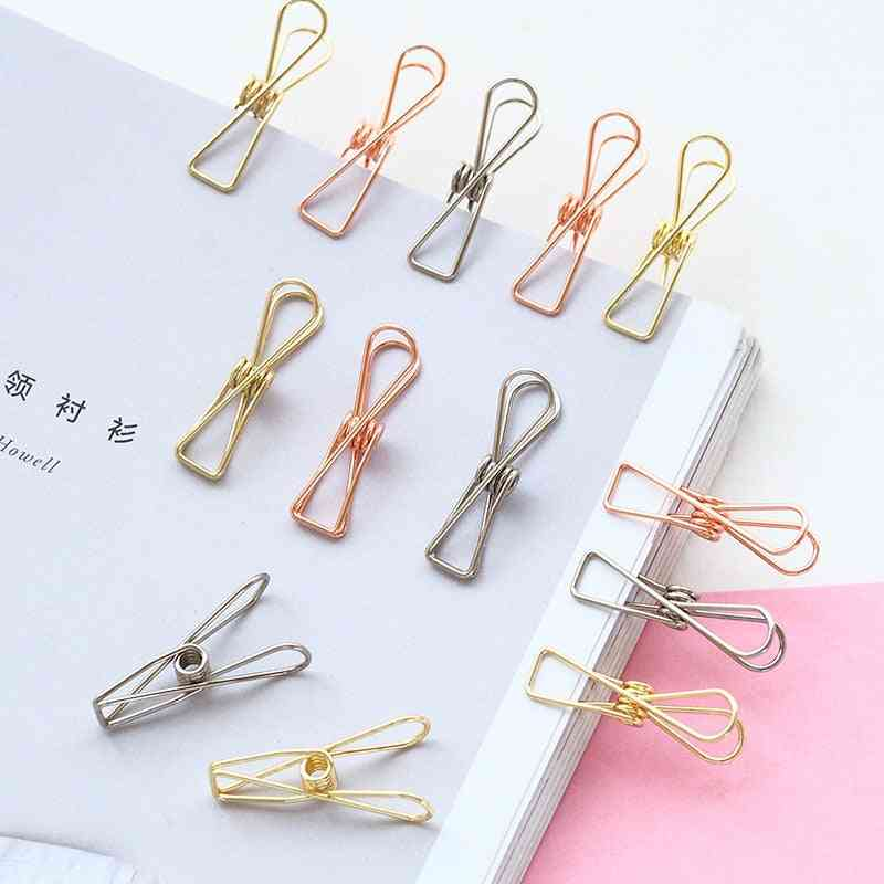 Cute Fish Hollow Out Metal Binder Clips, Notes Letter Paper Clip