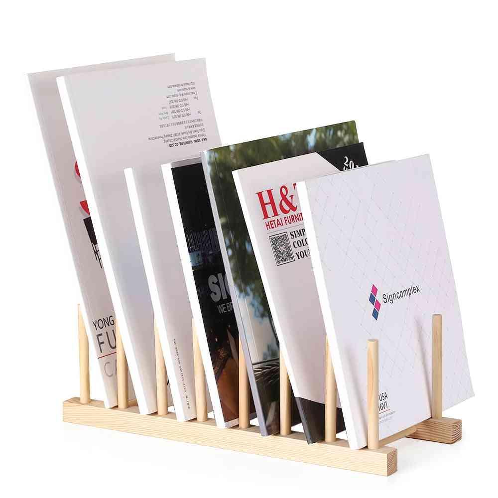 Multi-purpose Book/magazine Display Wooden Stand