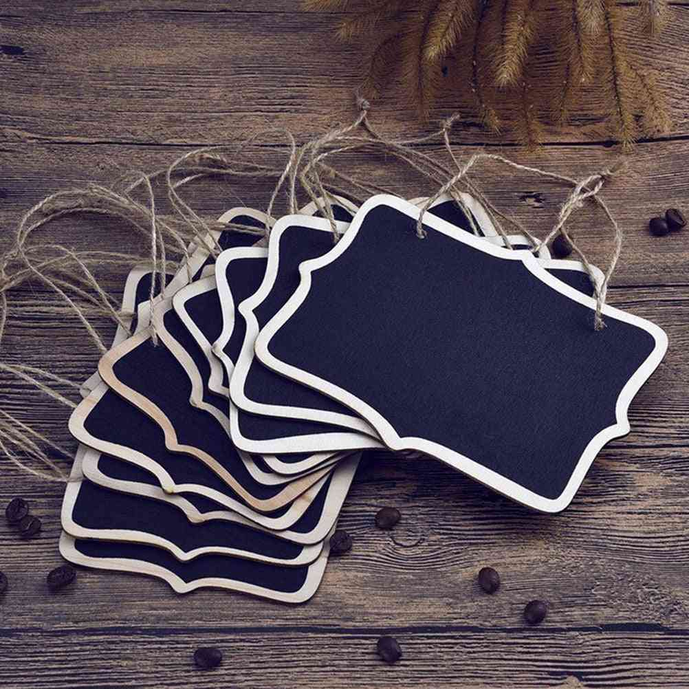 Mini Chalkboard Place Cards- Hanging Double Sided Rectangular Tag