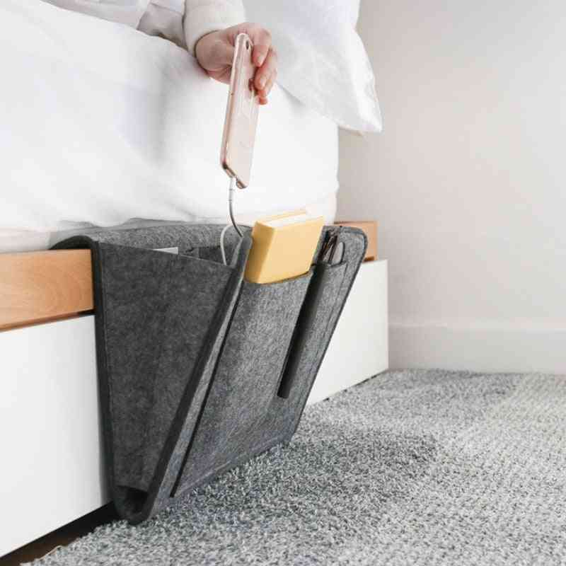 Bedside Hanging Organizer With Pocket For Magazine/phone/ Small Things