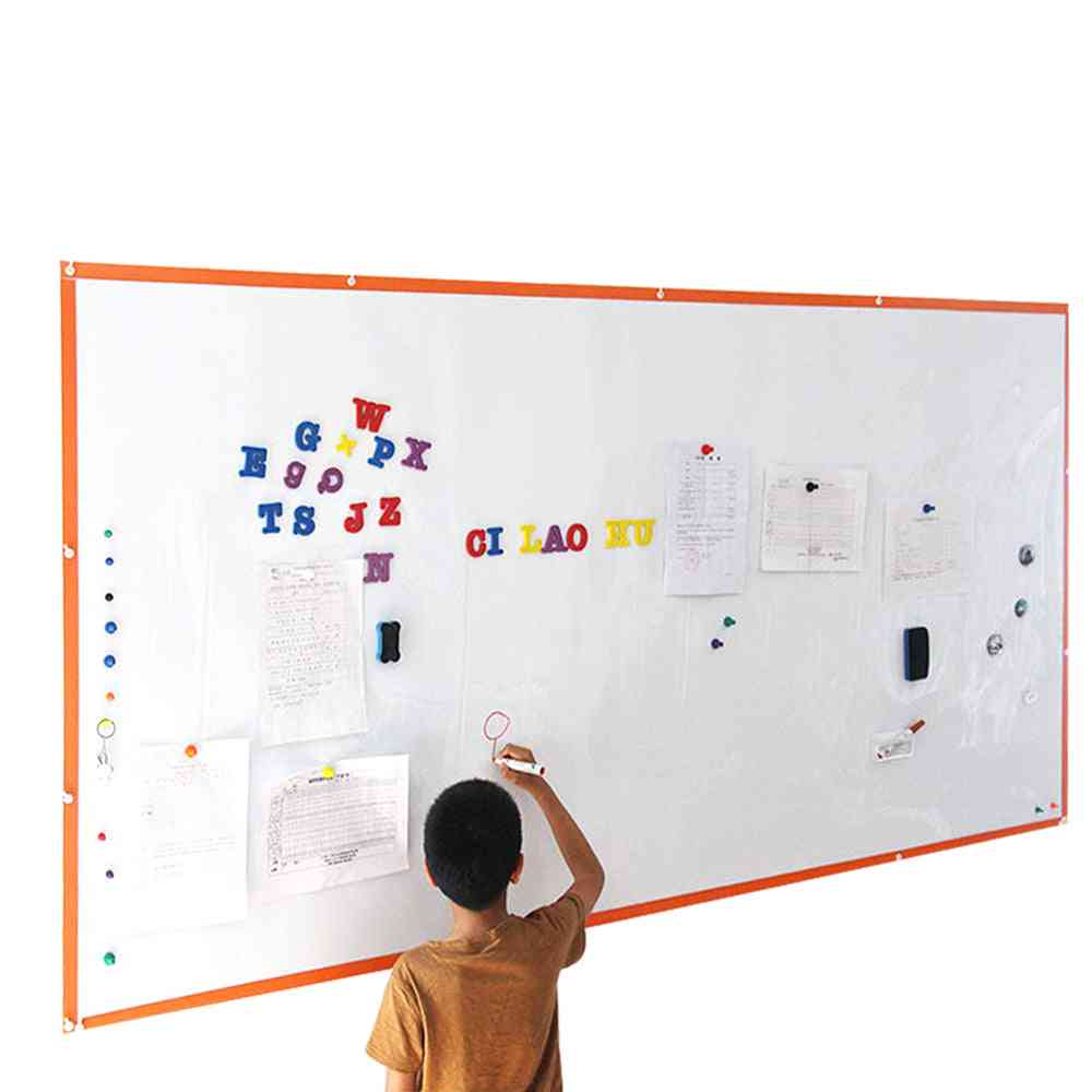 Hold Magnets Whiteboard Wall Sticker Office Dry Wipe Writing White Board For Wall Decor