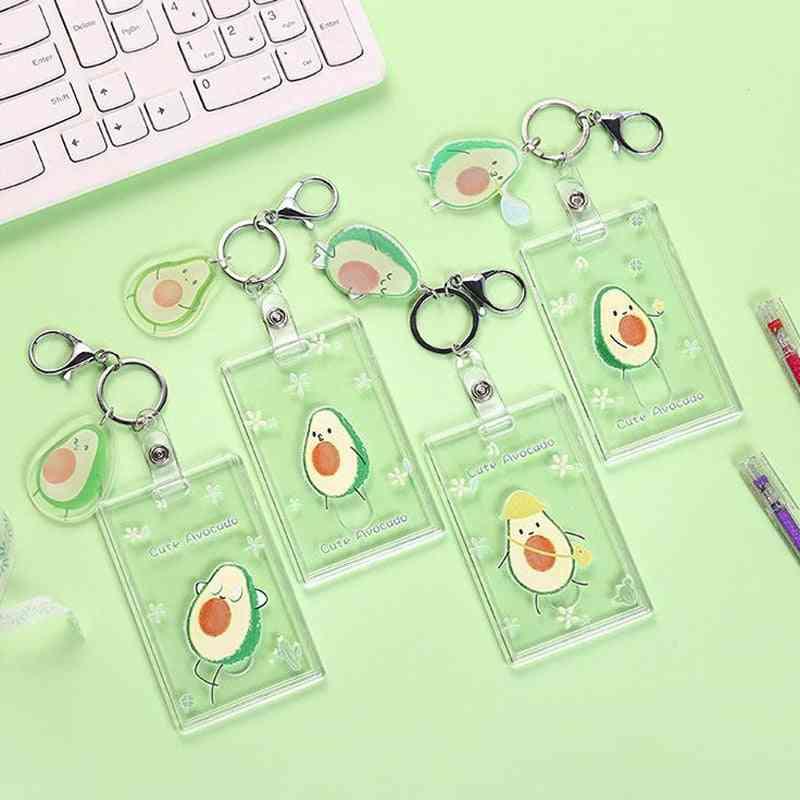 Cute Fruit Avocado Peach Bank Credit Id Card Holders Cover