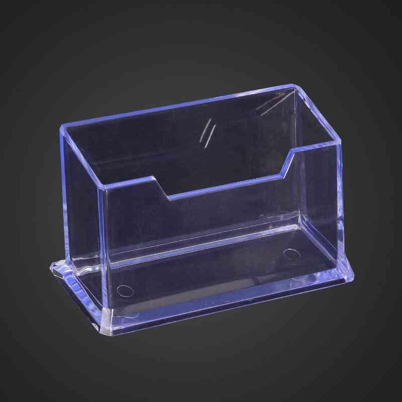 Clear Desktop Business Card Holder/stand Accessories Organizer