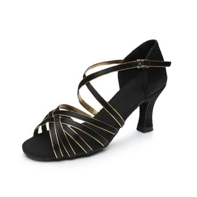 Satin Salsa Latin Women Tango Ballroom Dance Shoe