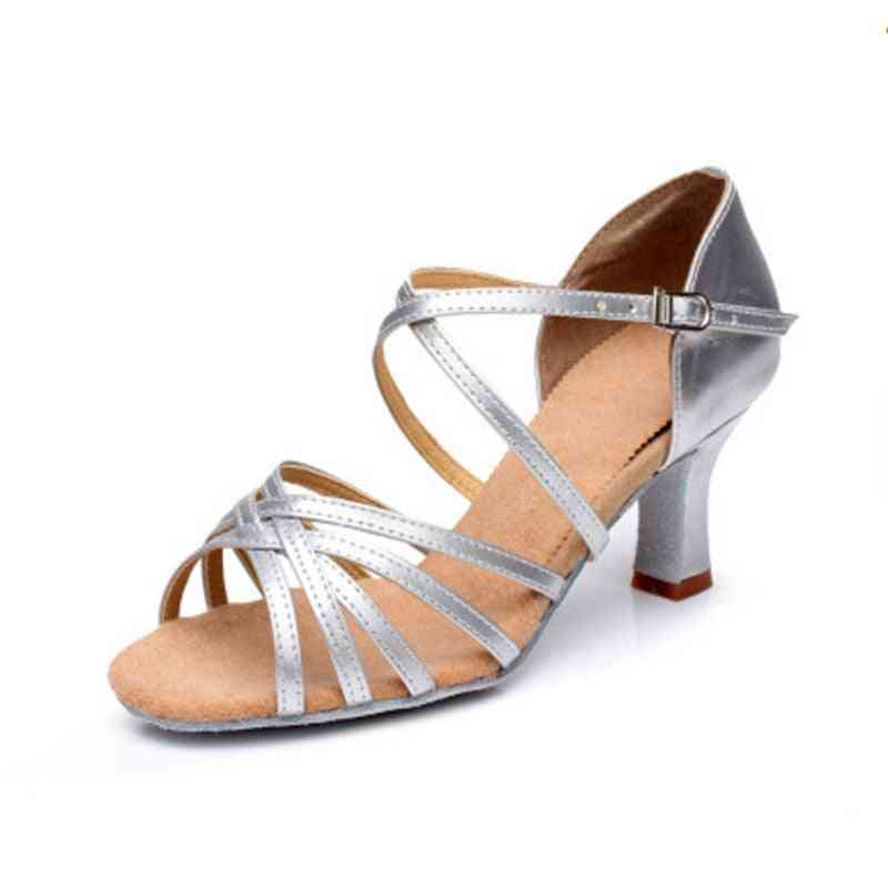 Satin Salsa Latin Dance Shoe Tango