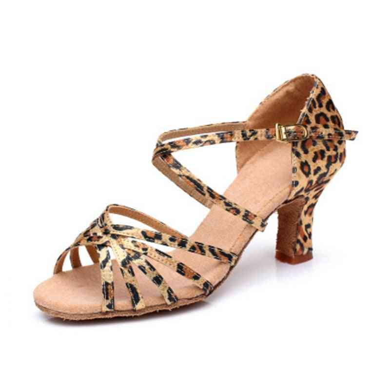 Satin Salsa Latin Dance Shoe