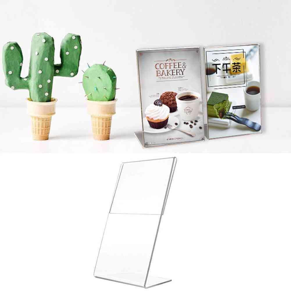 A6 Sign Label Frame, Desk Shelf Storage/card Holders