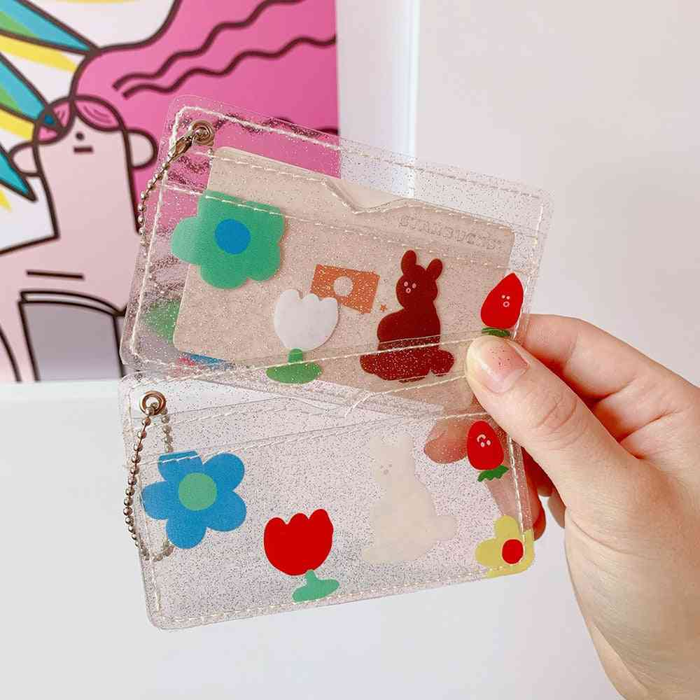 Bling Bear Portable Id Credit Bank/bus Card Holder