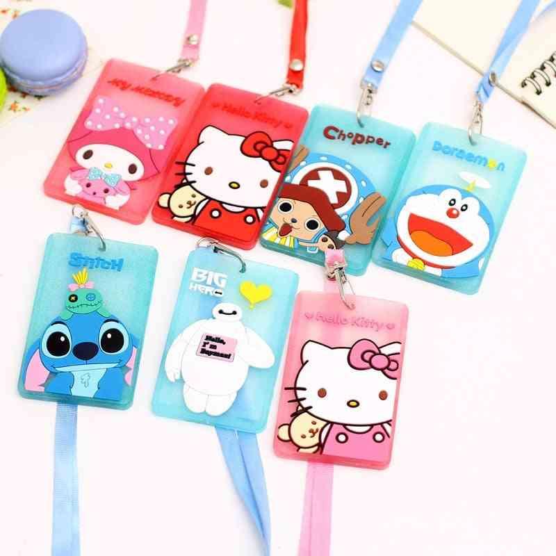Cute Kawaii Cartoon Characters Silicone Bus Card Holder