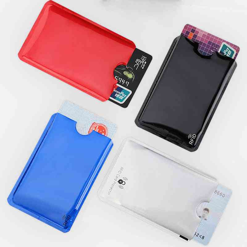 Anti Rfid Blocking Reader Card Cover, Holder Protection Id Bank Case