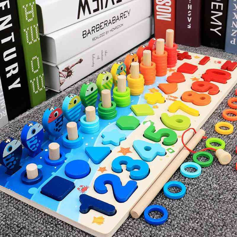 Montessori Educational Wooden Busy Board Math Counting Toy