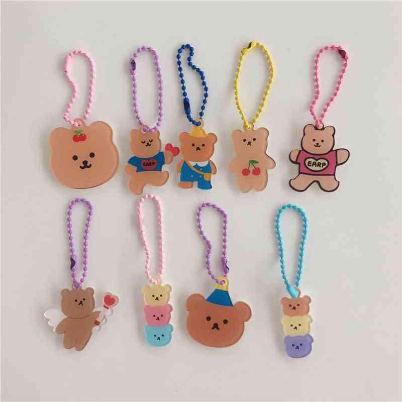 Korean Ins Cartoon Angel Bear Cherry Key Chain