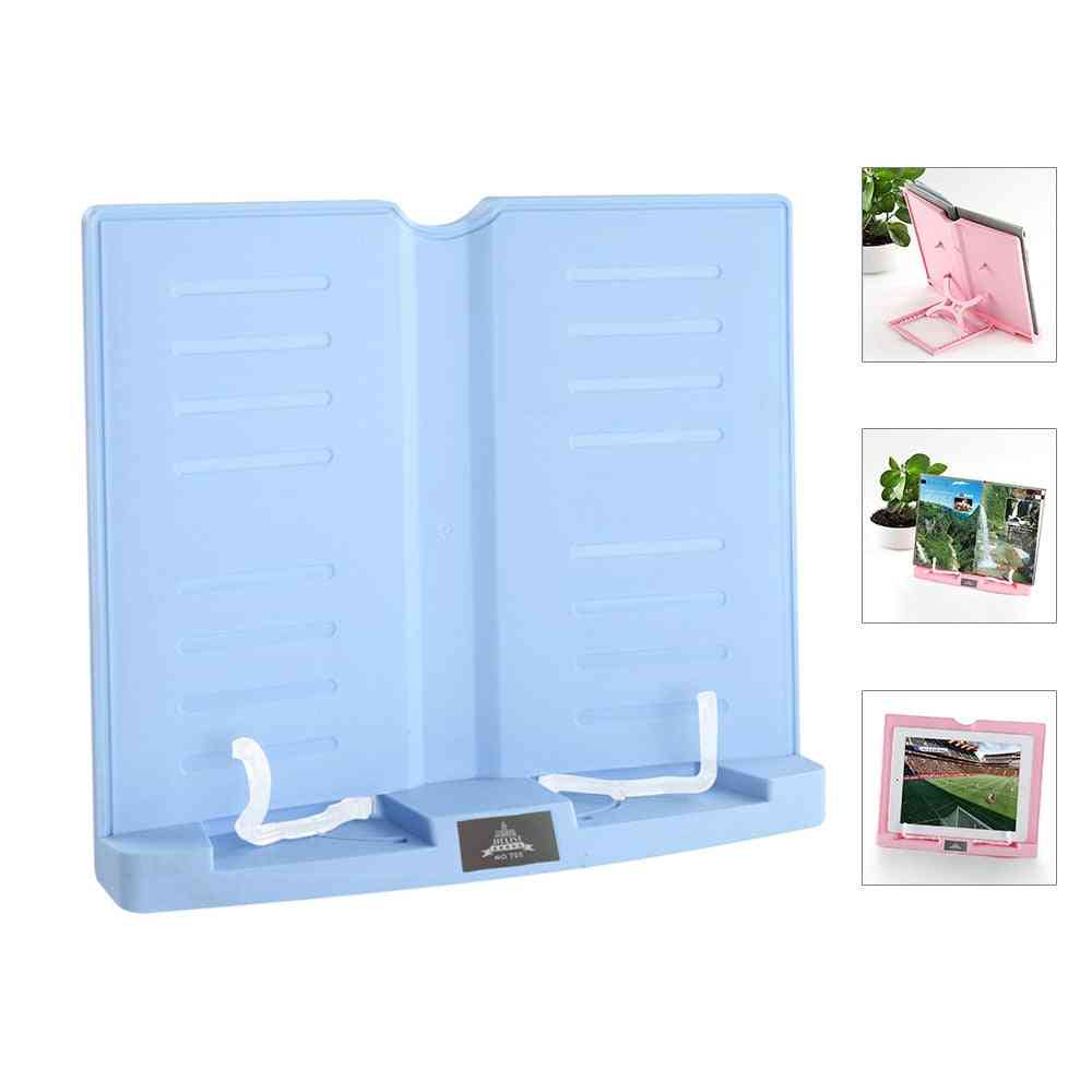 6-angles, Book Document Holder, Foldable Bookstand, Hands-free, Desk Reading For Textbook, Tablet