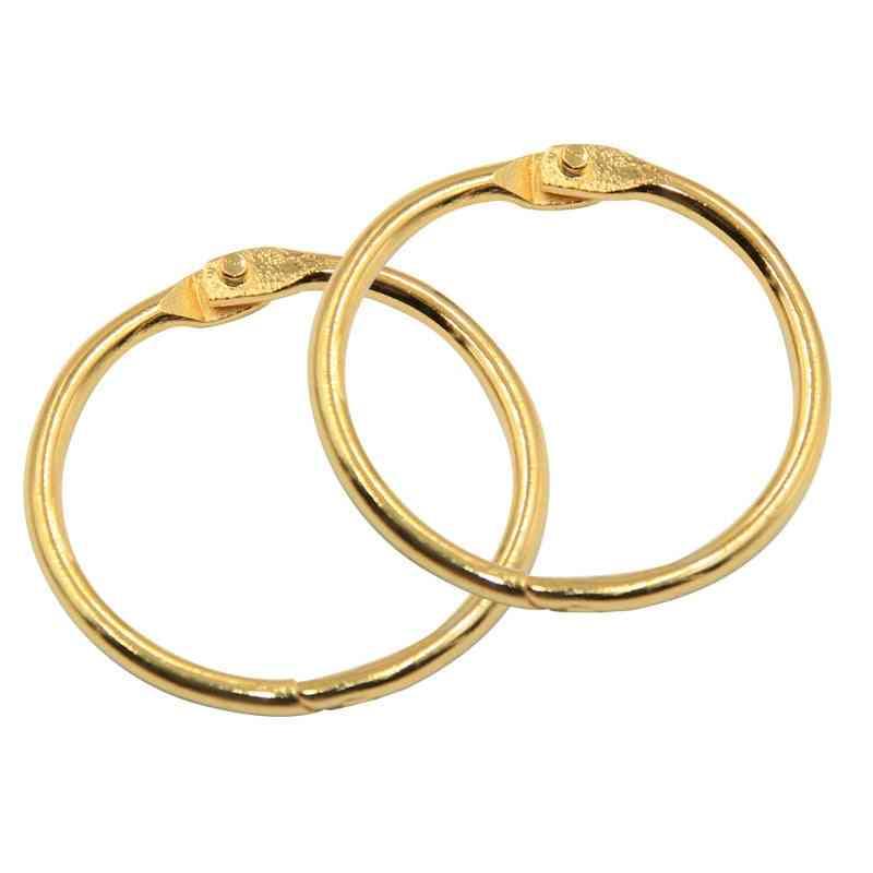 Round Book Binder Ring, Photo Album Keychain Key Rings