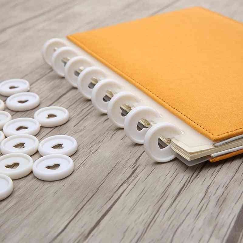 Plastic Ring Binder Buckle, 360 Degree Foldable Notebook