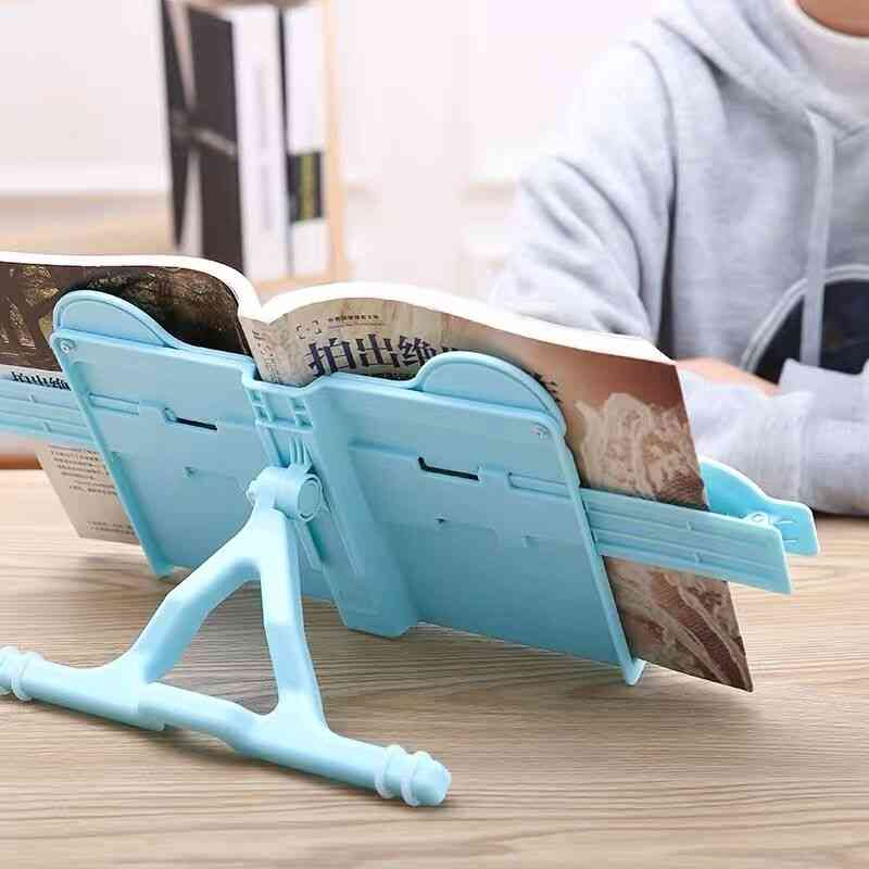 Cute Abs Foldable Portable Cat's Ear Book Holder Stand For Reading