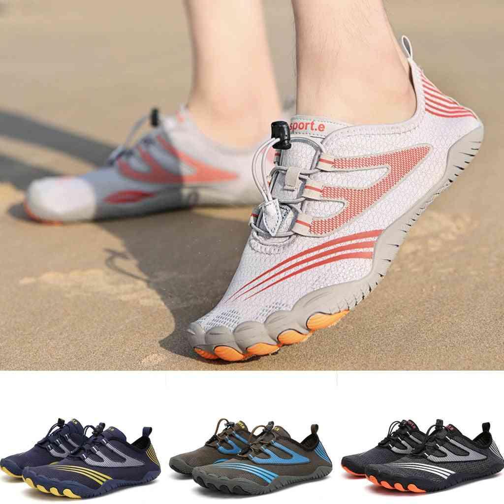 Men Flats Breathable Water Shoes, Pool Beach Swim Slip-on Creek Diving Shoe