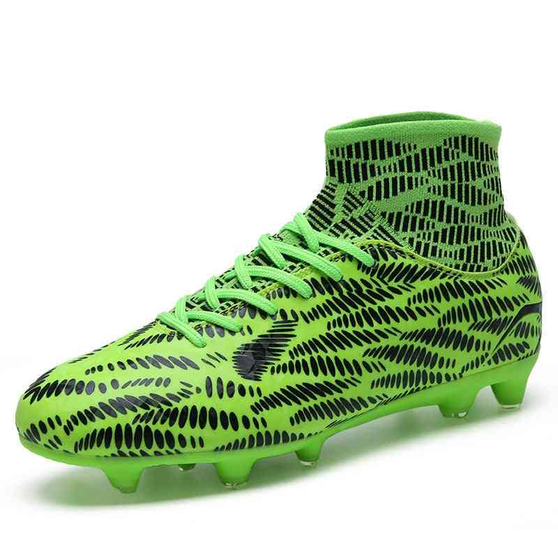 Men Light Weight Rugby High Top Training Sneakers Anti-slip Nail Spikes Boots For Football Trainers