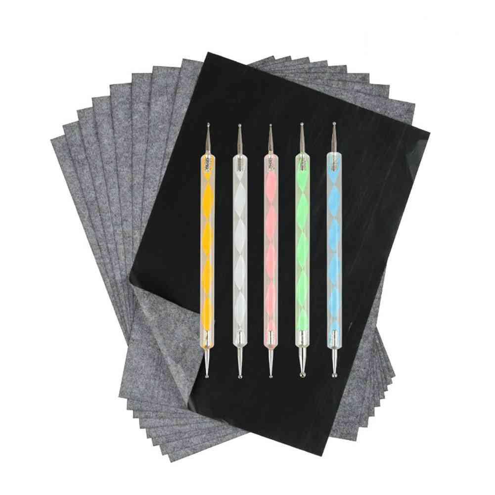 Carbon Paper, Black Graphite Transfer Tracing Pen