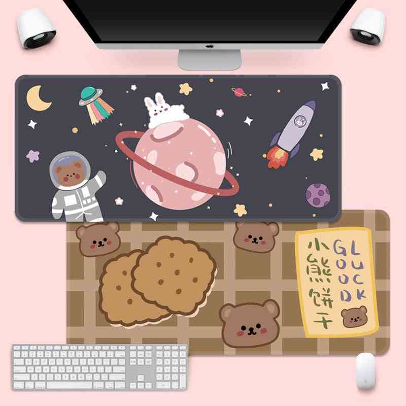 Cute Mouse Pad, Super Creative Game Computer, Keyboard, Office, Long Table, Mat Desk