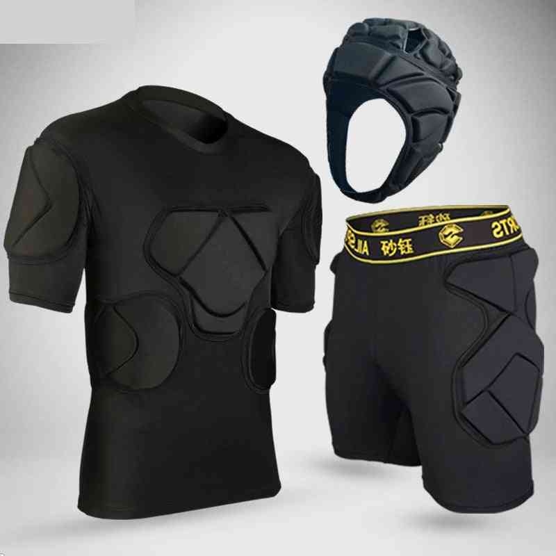 Sports Safety Protection Kits, Thicken Gear Soccer Goalkeeper Jerseys, Pants, Knee Pads, Elbow & Helmet