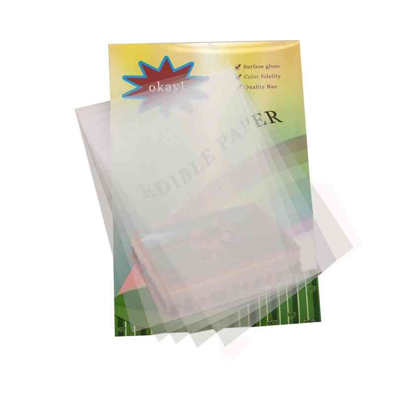 Chocolate Blank Transfer Paper Transparent Apply Food Prints Sheets