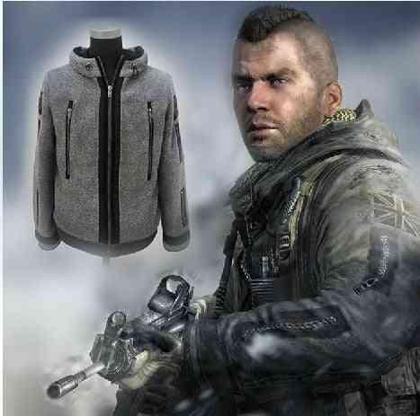 New Cosplay Modern Warfare Task Force Ghost Coat Battle Jacket Tactical Fleece