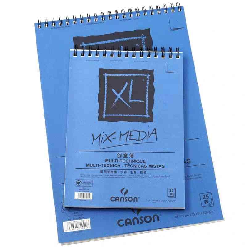 Mix-media Pad, 300g/m2 8k 16k 25 Sheets Papers