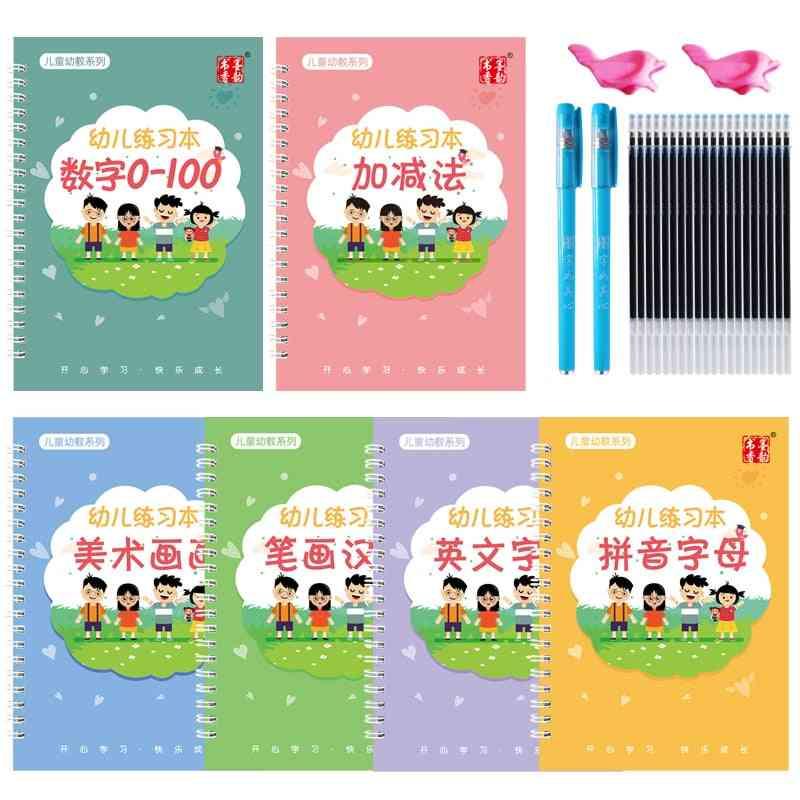 Reusable English Alphabet Copybook, Drawing Educational