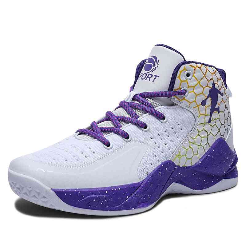 Men's & Women Sports Basketball Shoes, Athletic Breathable Sneakers