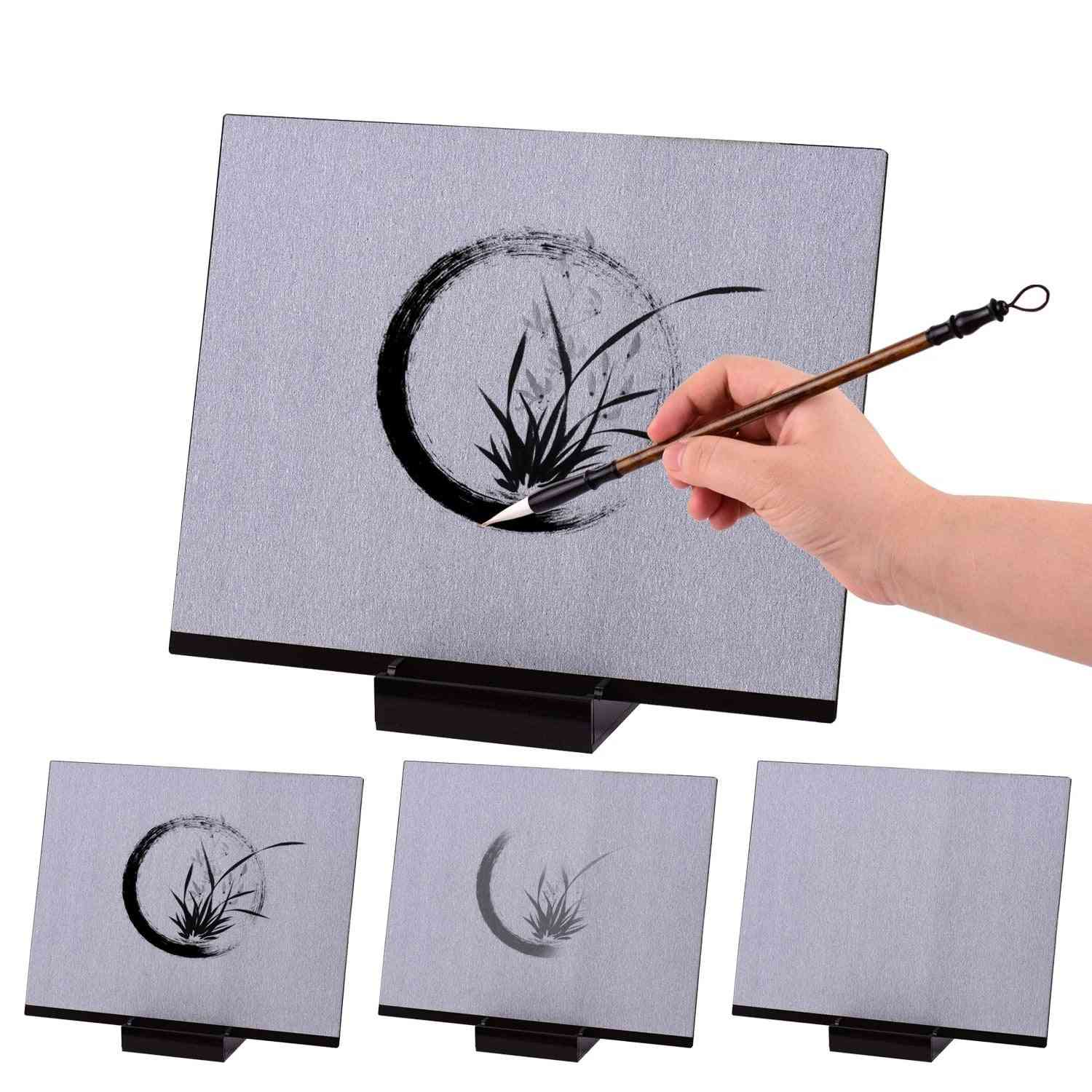 Reusable Buddha Board, Artist Paint With Water Brush & Stand